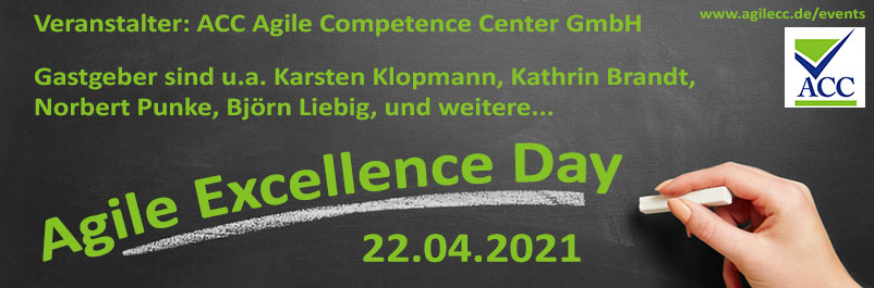 Agile Excellence Day (BarCamp) am 22.04.2021